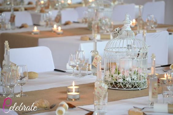 Shabby chic wedding decorations in France with Celebrate Agency