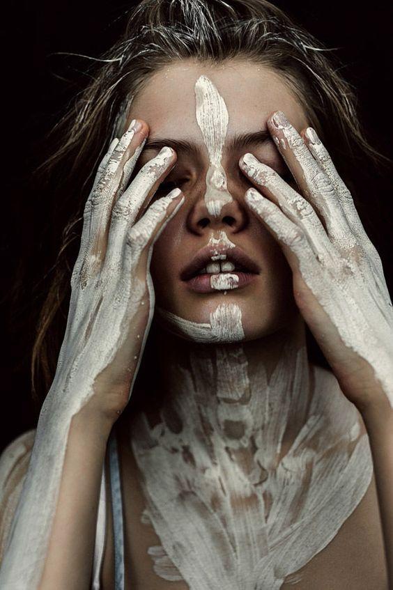 Symbolic War Paint Editorials : Artistic Cosmetics: