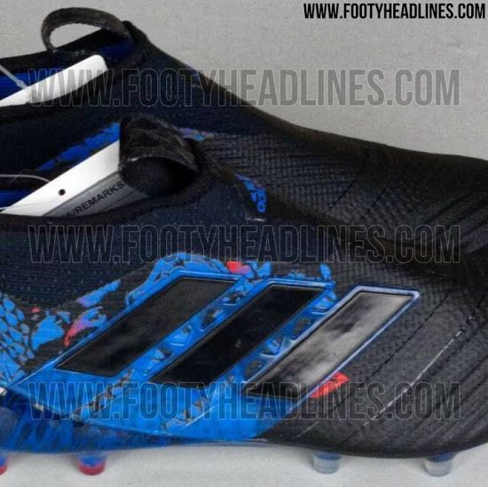 dac6b1e64dde The black and blue Adidas Ace PureControl UCL Dragon boots introduce an eye- catching look for the laceless top-tier model of the next-gen Adidas Ace.