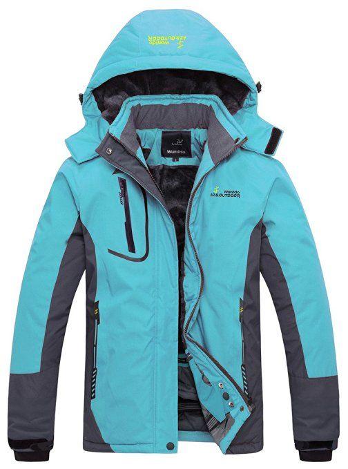 Wantdo Women's Waterproof Mountain Jacket Fleece Windproof Ski ...