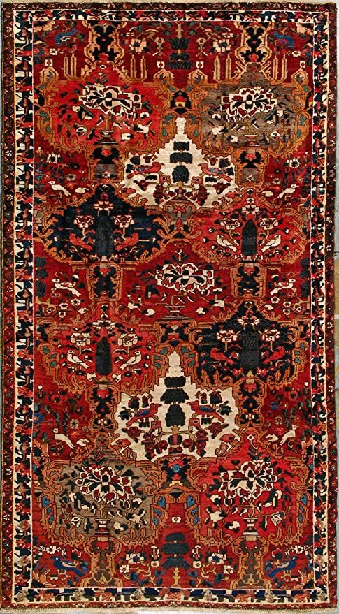 5 5 Quot X 10 3 Quot Bakhtiari Hand Knotted Persian Rug Rugs On Carpet Rugs Living Room Carpet