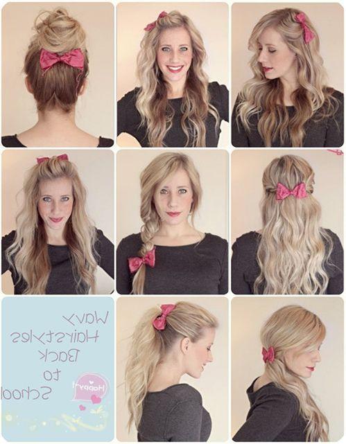 Hairstyles For Curly Hair In School Mit Bildern Frisuren