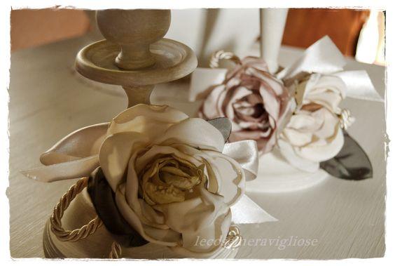 fiori fatti a mano in seta