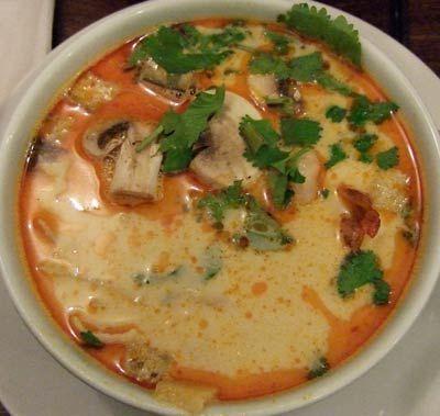 soupe-thai-champignon poulet lait de coco