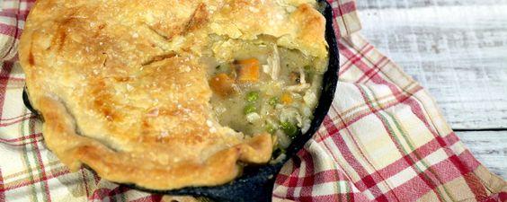 Chicken pot, chicken pot, chicken pot PIEEEEEEE by the Chew (or recipe has as Turkey pot pie!)
