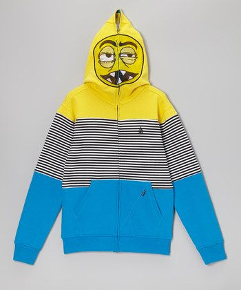 Atlantic Blue & Yellow Blakely Full Face Zip Up Hoodie will have ...