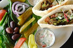"Panorama Grill, 901 N. Pennsylvania St.: To be honest, this new oasis of Mediterranean grub just barely meets the standard of ""good enough."" But the Chawarma is solid. Click pic for review."