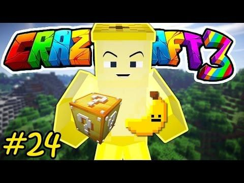 Oops Club Minecraft Crazy Craft 3 0 Tập 24 Lucky Block Va Pet Chuối Minecraft Crafts Pets