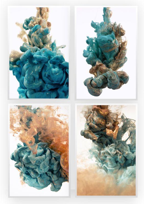 Alberto Seveso é um artista italiano que através de um simples método de jogar tinta num  recipiente com água, registra essa turbulenta mistura em fotografia, com isso nos presenteou com suas esculturas fluídas.    Confira: http://www.mglcom.com.br/blog/2012-10-30-as-esculturas-fluidas-de-alberto-seveso