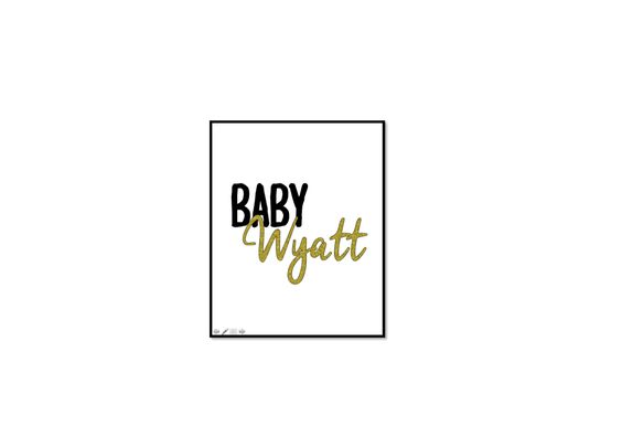 8x10 Sparkle & Baby Print