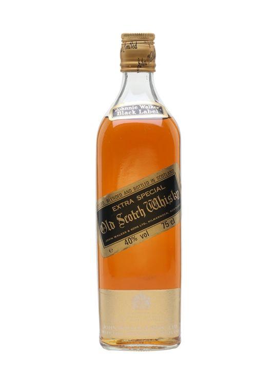 Johnnie Walker Black Label Extra Special Bot 1970s The Whisky Exchange Johnnie Walker Black Johnnie Walker Black Label Johnnie Walker