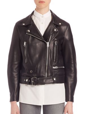 Acne Studios - Leather Moto Jacket