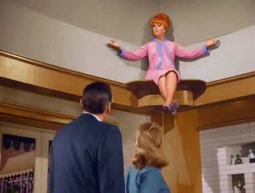 "Because she is figuratively above all this, she is often literally above all this. | Indisputable Proof That ""Bewitched"" Had The Greatest Witch Of All Time:"