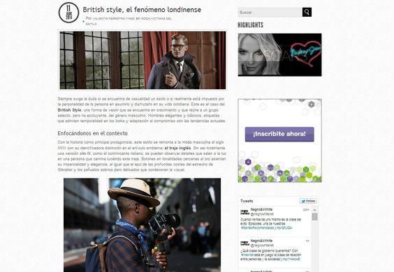 """Britih Style, el fenómeno londinense"" http://bit.ly/1jAbxzD"