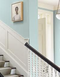 Diana noted panelling up the stairs