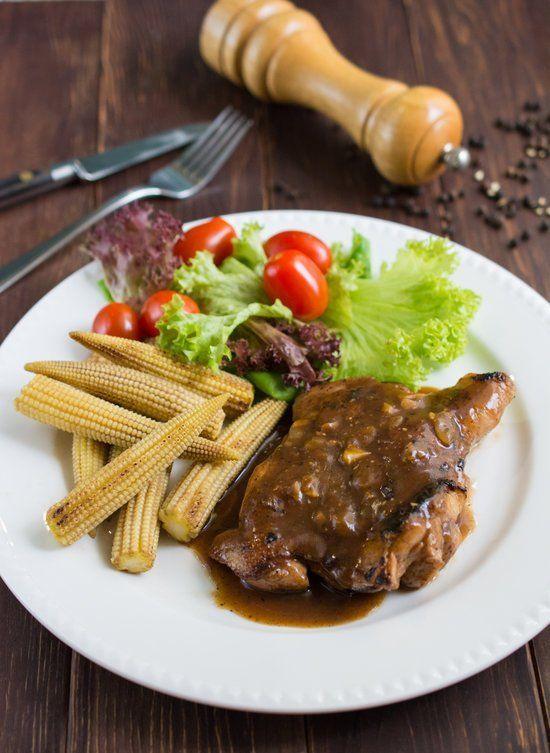 Cara Masak Chicken Chop / Resepi Chicken Chop Black Pepper / Chicken chop telur asin (foto: