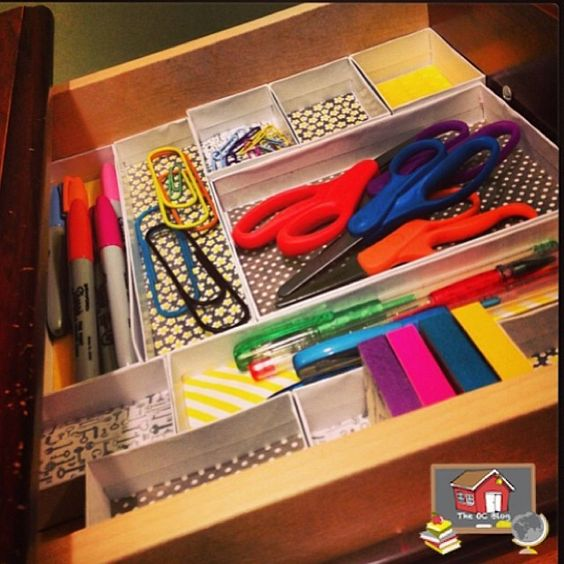 Washi organizers and make your own on pinterest - Make your own desk organizer ...