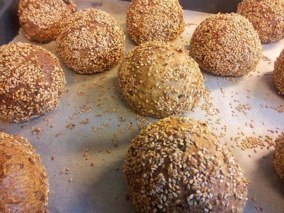 Paleo bread rolls - if you don't have a Thermomix or high speed blender, these rolls can be made by hand, there's no kneading involved and the dough is very easy to handle.