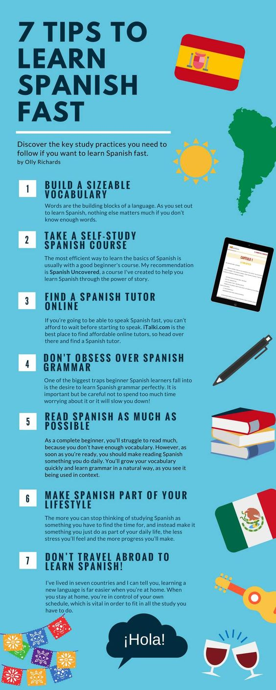 7 Tips To Learn Spanish Fast