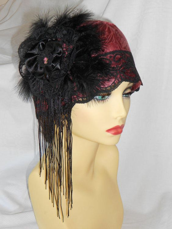 Turban style cloche hat charleston flapper roaring 20 s great gatsby