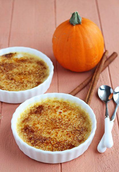 Pumpkin creme brulee, Creme brulee and Pumpkins on Pinterest