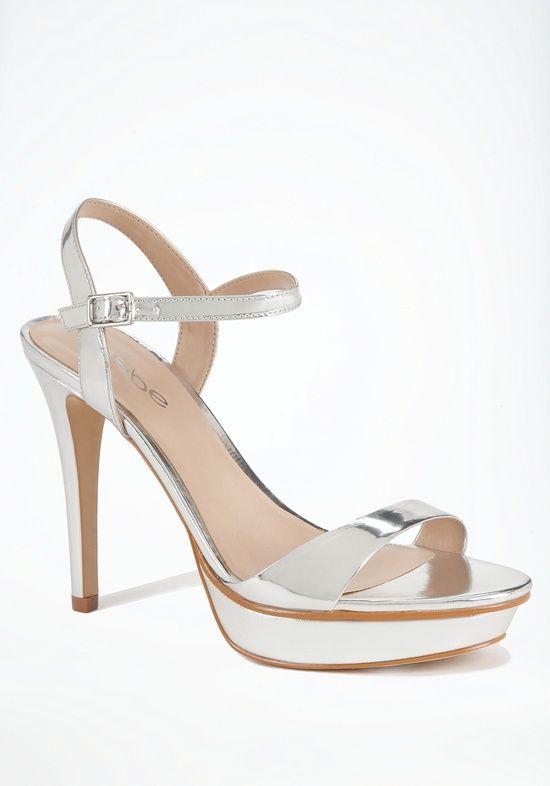 Shoe Addicted / bebe silver sandal ||