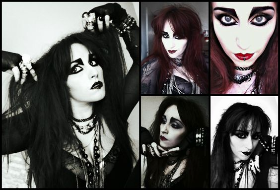 Happy Easter from me Happy House to yours.  #Siouxsie Sioux inspired makeup.  #Goth #Tradgoth #gothic #dark #Beauty #makeup