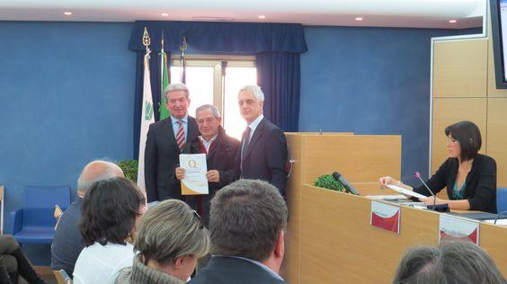 Cerimonia di premiazione marchio Ospitalità Italiana, Rieti, 28 gennaio 2015.