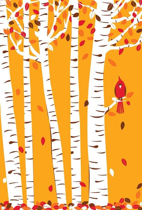 Great fall print from strawberryluna.