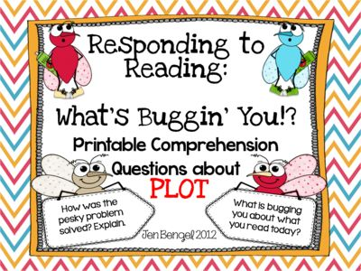 Comprehension Question Cards for Plot with CCSS!! from Jen Bengel on TeachersNotebook.com -  (13 pages)  - freebie 10 printable comprehension questions about plot with suggestions for multiple uses. Available in both color and black and white...13 pages!