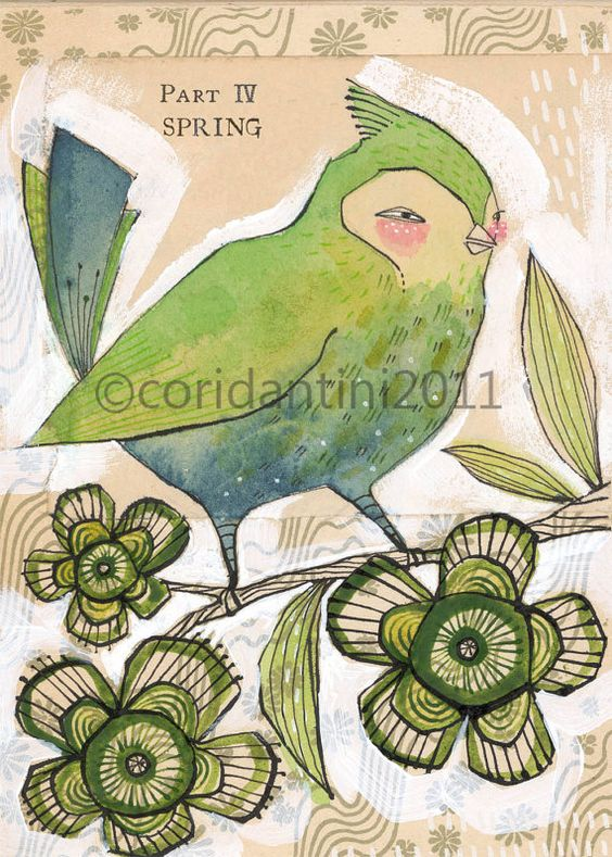 bird art - watercolor painting - art print - limited edition and archival print by cori dantini. $20.00, via Etsy.