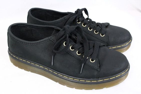 DOC DR MARTENS Farrell Black Wyoming Leather Lace up Sneaker Shoes Men UK 6 US 7 #DrMartens #Oxfords