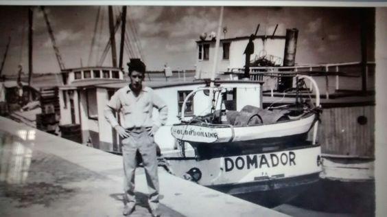 Meu pai nos anos 50 no Porto de Porto Alegre.