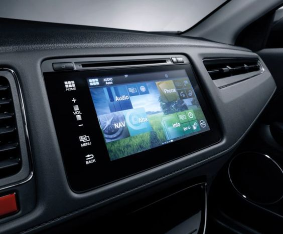The Honda Connect display in the new HRV