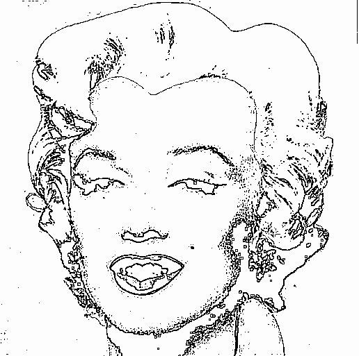 Marilyn Monroe Coloring Page New Marilyn De Warhol Para Colorear Coloring Pages Warhol Colorful Art