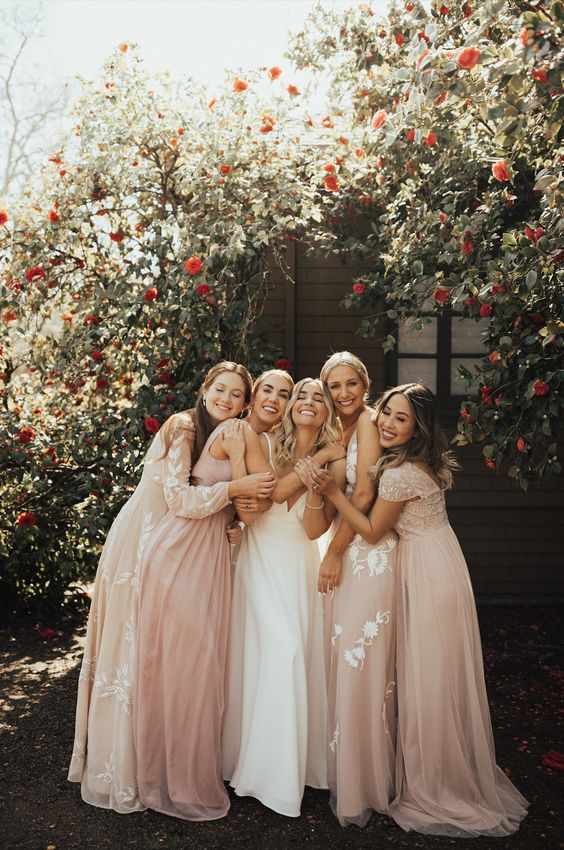 BHLDN Blush Bridesmaids