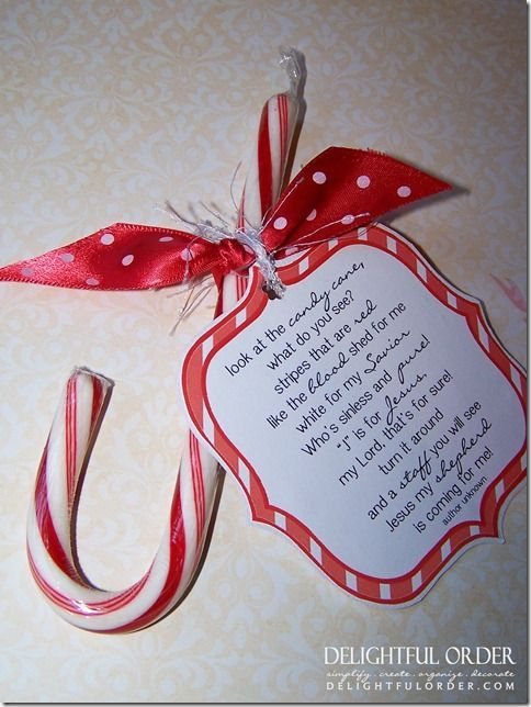 Candy Cane Poem Printable | Free Printable Candy Cane Poem | Christmas