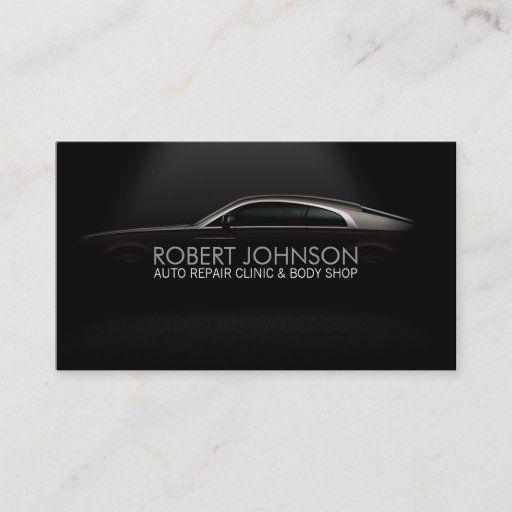 Stylish Automotive Business Card Zazzle Com In 2021 Business Cards Cards Auto Body Shop