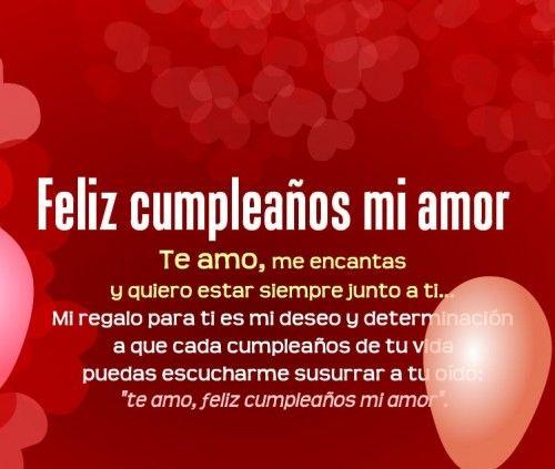 Feliz Cumpleaños Mi Amor Imágenes Y Frases Imágenes Para
