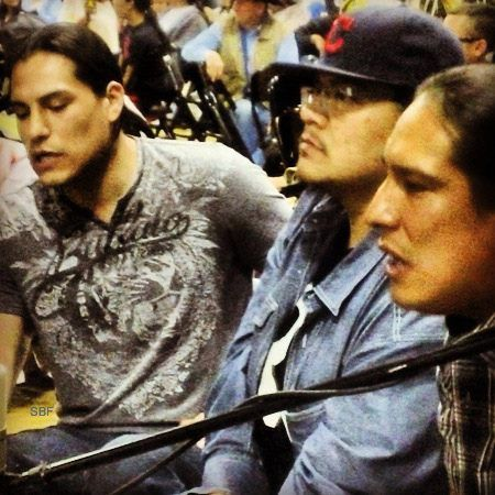 Eddie and Michael Spears singing & drumming at Bozeman pow wow April 2013