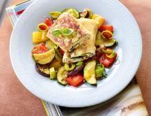 Rezept Quarkplätzchen im Brickteig mit Schmorgemüse, unser Rezept Quarkplätzchen im Brickteig mit Schmorgemüse - gofeminin.de