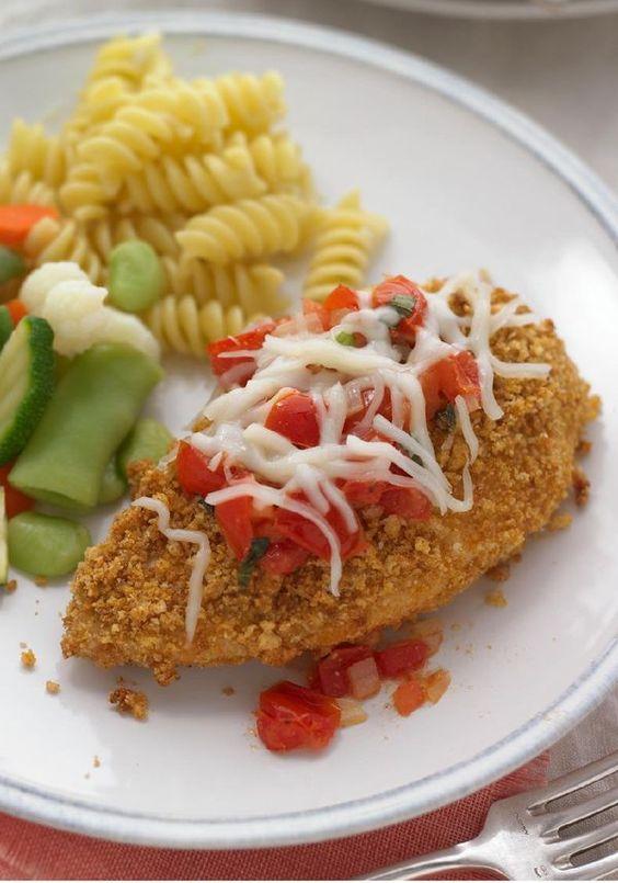 Chicken Parm With Fresh Tomato Sauce Recipe — Dishmaps