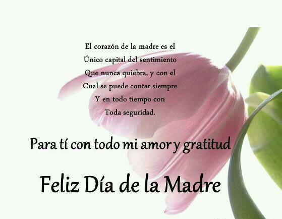 Feliz dia a quienes son mamás en mi TL. Extensivo a las mamás de todos mis seguidores. Dios las siga bendiciendo.