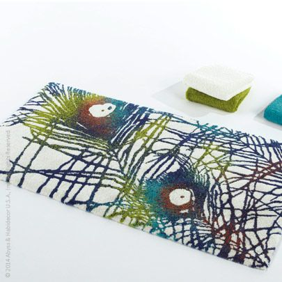 Leon Bath Rug By Abyss And Habidecor Is A Colorful Nod To The Flamboyant  Peacock.