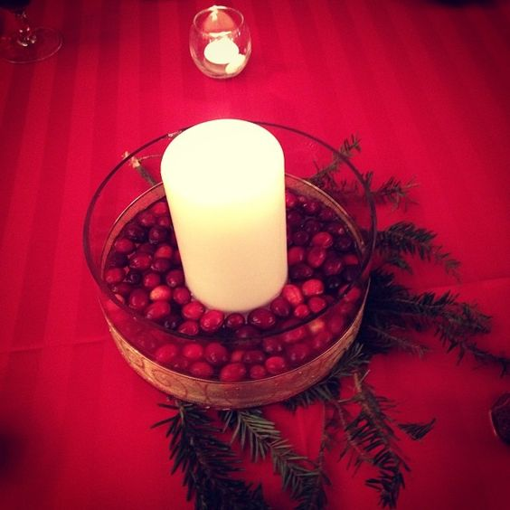 Check out this beautiful and inexpensive idea for holiday parties and winter wedding centerpieces.