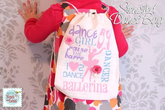 Stenciled Dance Bag