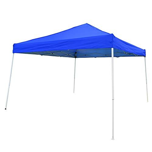 Otlive Slant Leg Canopy Tent Waterproof 10 10 Top Pop Up Portable Instant Folding Canopies With Carry Bag Blue In 2020 Canopy Tent Canopy Folding Canopy