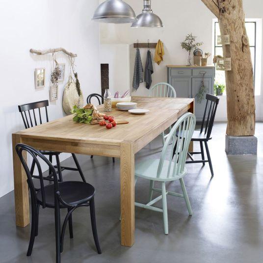Soldes D Hiver 2020 Nos Reperages Chez La Redoute Interieurs Et Am Pm Table A Manger En Chene Salle A Manger En Chene Table Salle A Manger