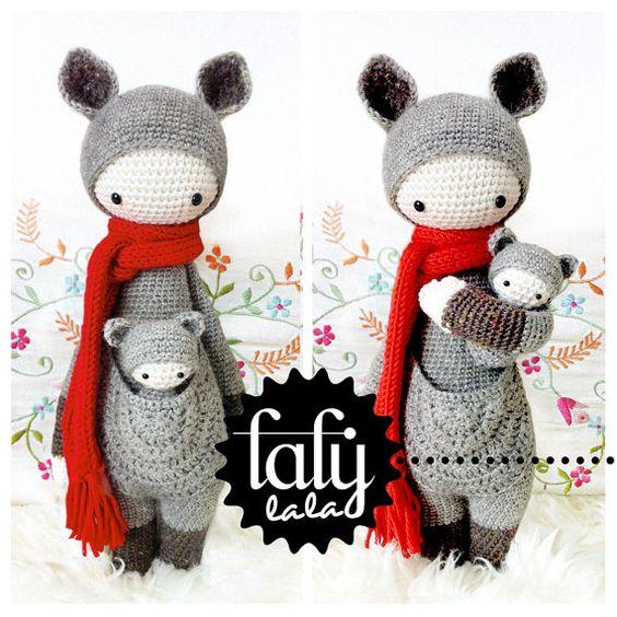 Amigurumi Patrones Pdf : Crochet pattern doll kira the kangaroo pdf by lalylala on