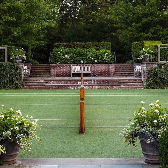 Grass Tennis Court In Backyard : Tennis, Play tennis and Grasses on Pinterest